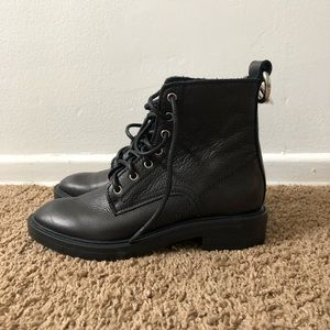 NWT Dolce Vita black leather combat boots